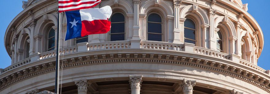 Texas Flag at State Capitol